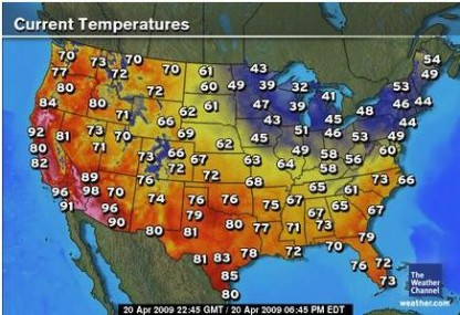Heat Wave in the Western United States Indicates Cooling Season is